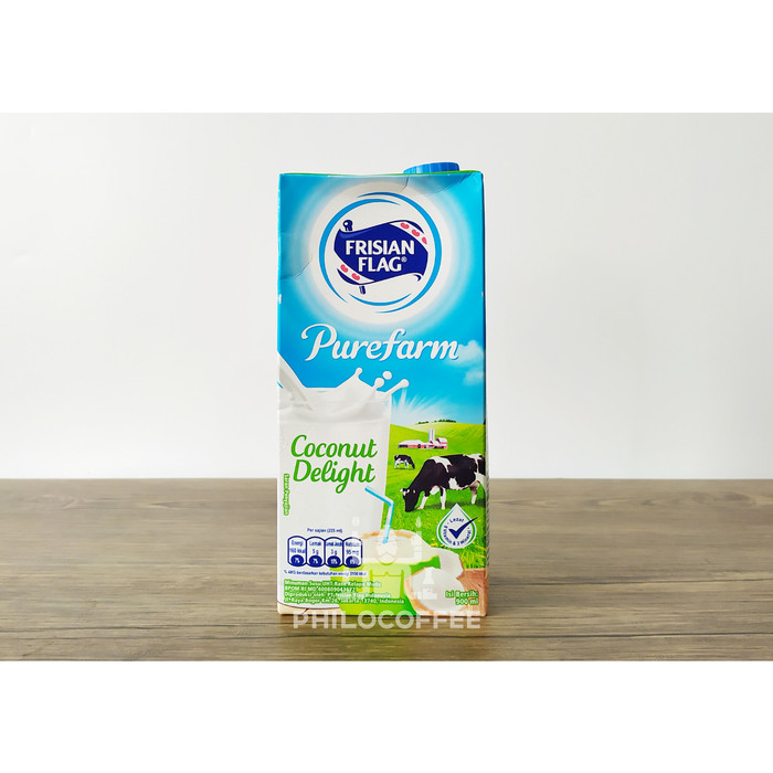 Foto Produk Frisian Flag UHT Coconut Delight 900ml   Susu Bendera Milk Purefarm dari Philocoffee