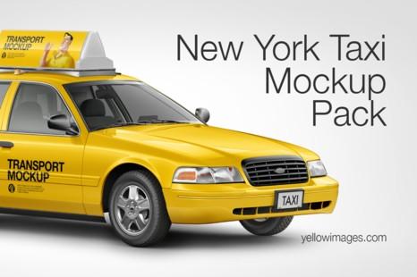 Download Jual Yellow Images New York Taxi Mockup Pack Kota Surabaya King Marketing Seo Tokopedia PSD Mockup Templates