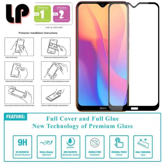 Foto Produk LP Full Glue Tempered Glass Xiaomi RedMi 8 - 8A - Original Clear Kaca dari Logay Accessories