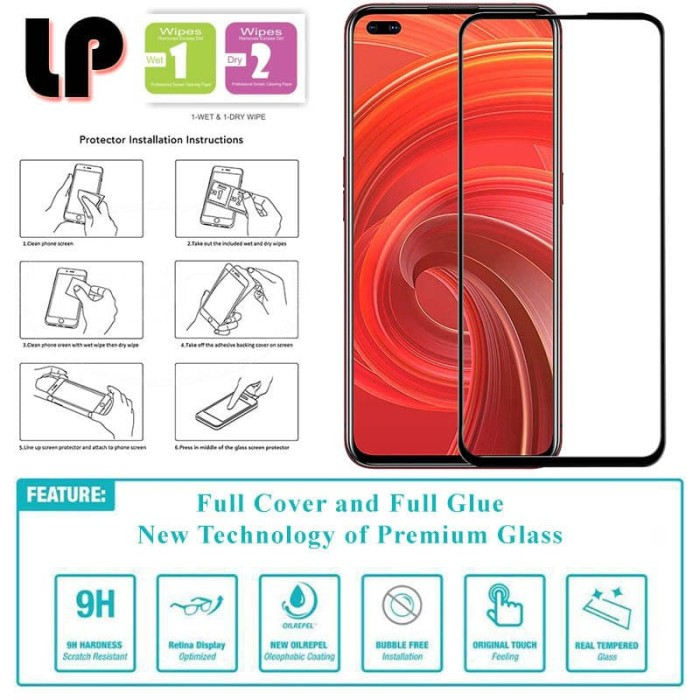 Foto Produk LP Full Glue Tempered Glass Realme 6 Pro - Original Clear Kaca Bagus dari Logay Accessories
