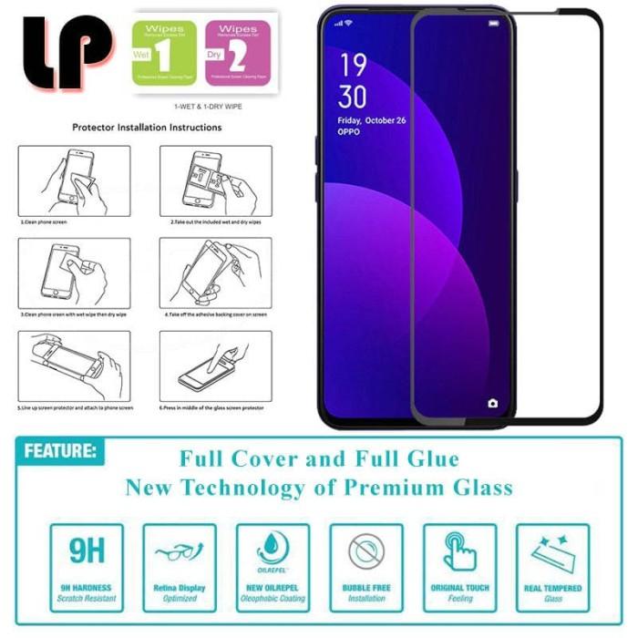 Foto Produk LP Full Glue Tempered Glass Oppo F11 Pro - Original Clear Kaca Bagus dari Logay Accessories