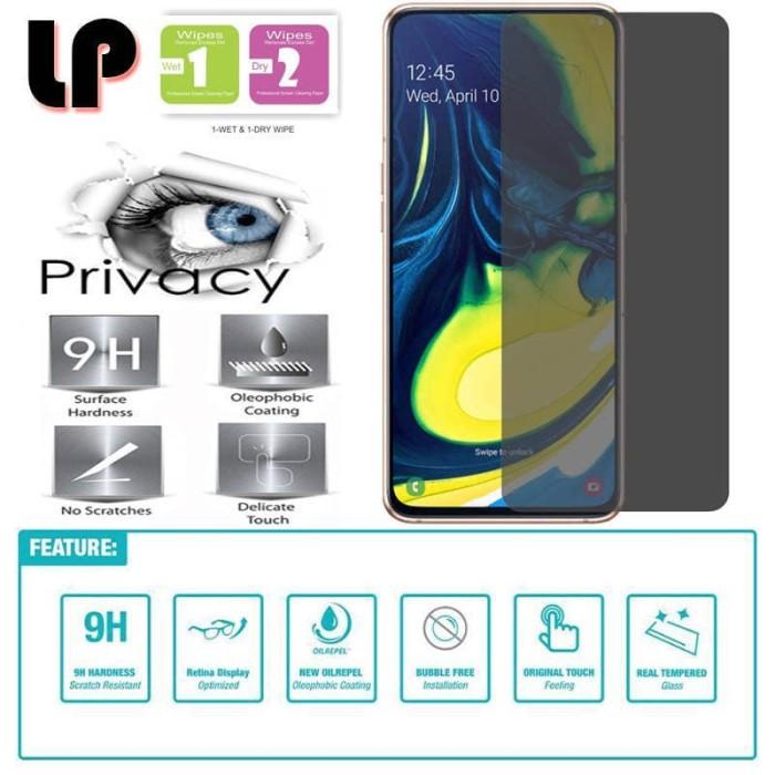 Foto Produk LP Anti-Spy Tempered Glass Samsung Galaxy A80 - Kaca Privacy Original dari Logay Accessories