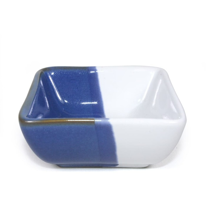 Foto Produk Artisan Ceramic | Blue Square Sauce Dish | Tempat Sauce Keramik dari Artisan Ceramic