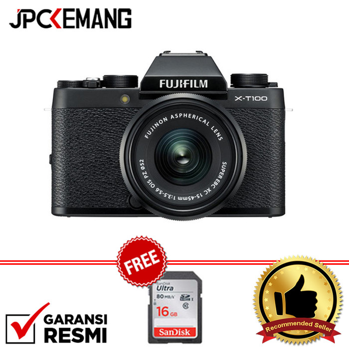Foto Produk Fujifilm X-T100 XT100 Kit 15-45mm GARANSI RESMI - Hitam dari JPCKemang