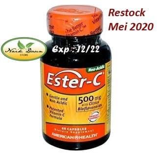 Foto Produk Ester-C, 500 mg with Citrus Bioflavonoids 60 Capsules AMERICAN HEALTH dari Naik Daun