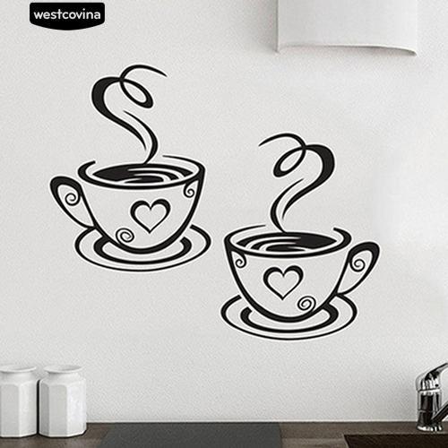 Jual Cafe Stiker Dinding Dengan Bahan Mudah Dilepas Dan Gambar Cangkir Jakarta Barat Nano Nano69 Tokopedia
