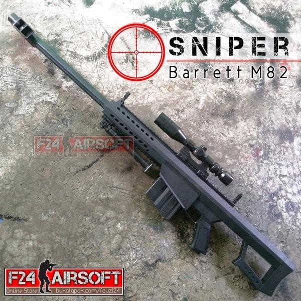 Jual Dijual Airsoft Gun Spring Sniper Barrett M82 Murah Jakarta Barat Dawwas Store Tokopedia