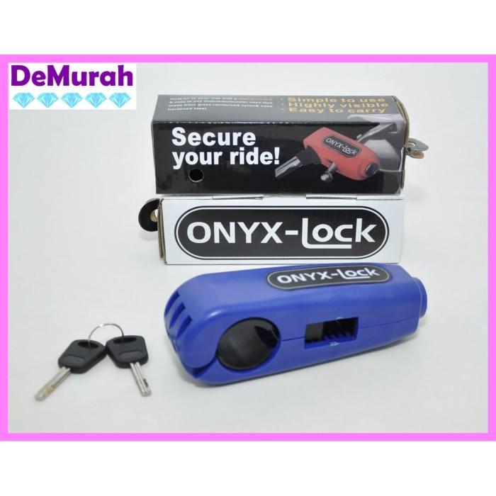 Foto Produk 0464 ONYX Lock Kunci Gembok Pengaman Stang Motor Grip Lock - Hijau dari Demurah Dot Com