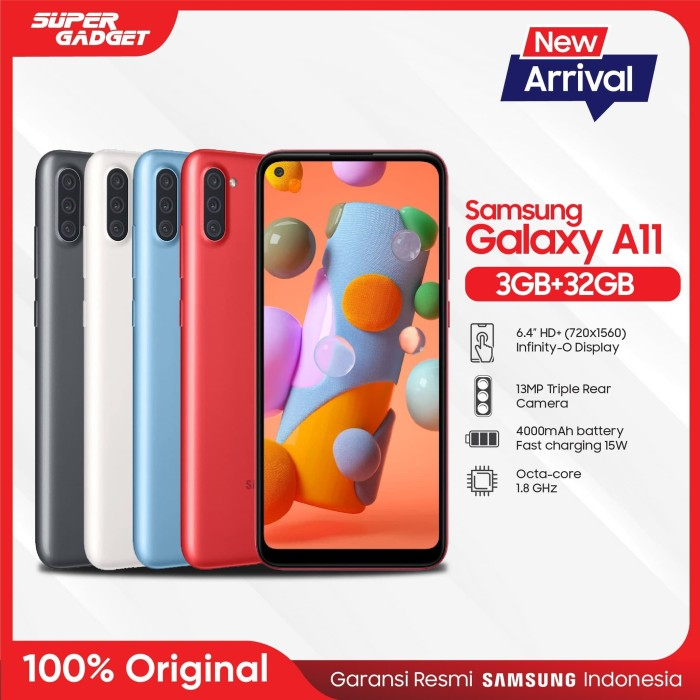 Foto Produk Samsung Galaxy A11 [3GB/32GB] - Garansi Resmi - Hitam dari SUPER_GADGET