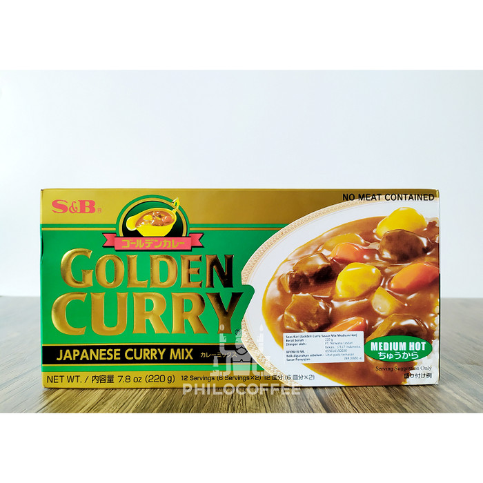 Foto Produk S & B Golden Curry Sauce Mix Medium 220gr   Bumbu Kari dari Philocoffee