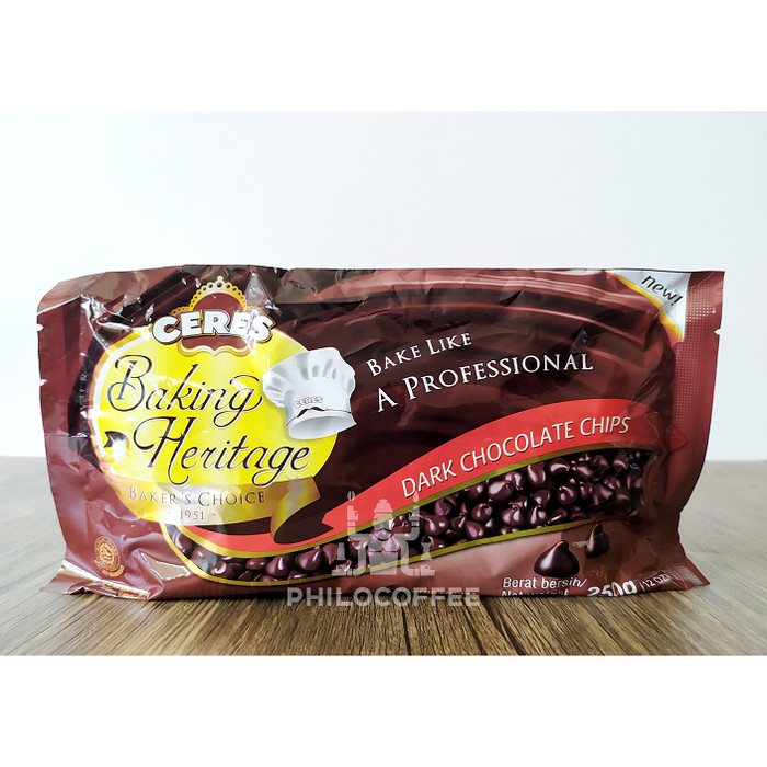 Foto Produk Ceres Dark Chocolate Chips 250gr | Ceres Baking Heritage dari Philocoffee