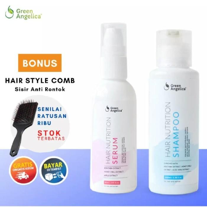 Foto Produk Paket Rambut Rusak dan Rontok Green Angelica Hair Nutrition Combo 3 dari Look The Beauty Official