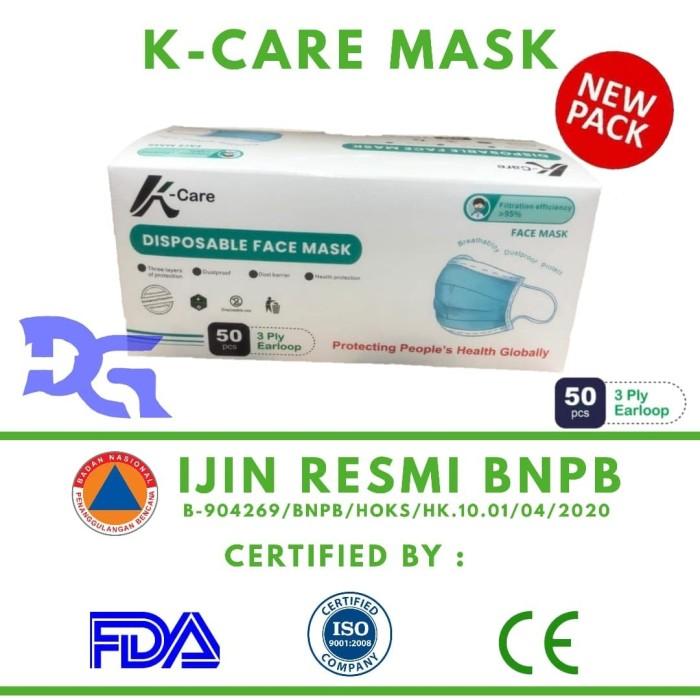 Foto Produk 1 Box Surgical Face Mask K-CARE 3 Ply isi 50 Pcs - Masker Sensi - K-Care Mask dari dgshop_id