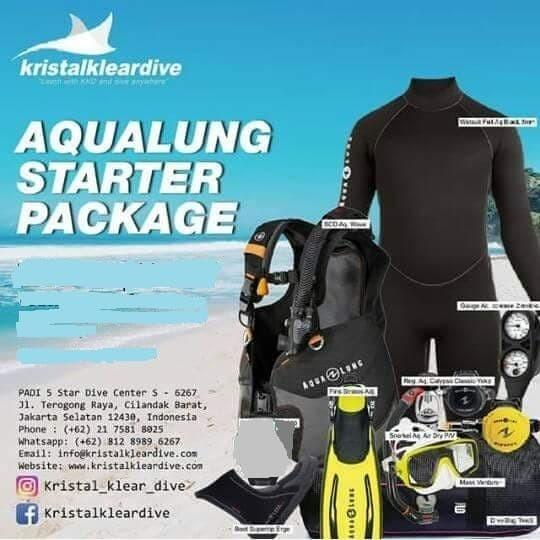 Foto Produk Dive Gear Beginner Package dari Kristal Klear Dive