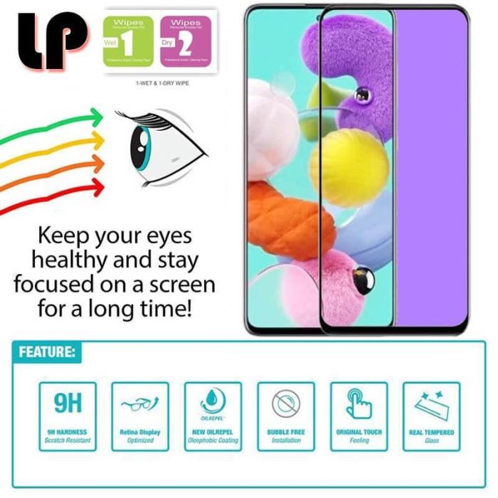 Foto Produk LP Full Anti-Blue Light Tempered Glass Samsung Galaxy A71 - Kaca Ori dari Logay Accessories