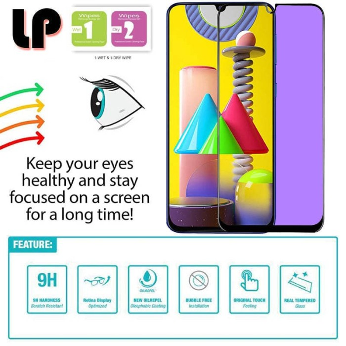 Foto Produk LP Full Anti-Blue Light Tempered Glass Samsung Galaxy M31 - Kaca Ori dari Logay Accessories