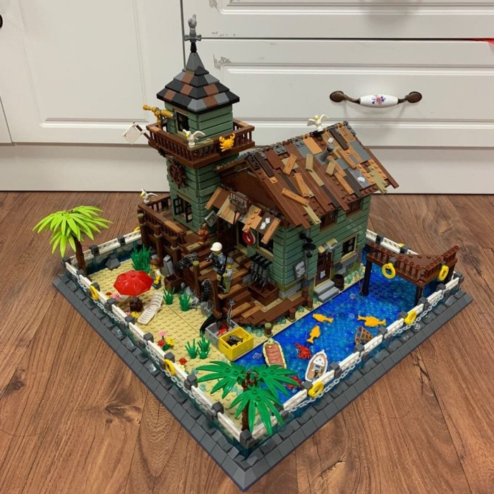 Jual Old Fishing Store Compatible Lego 21310 Extension ...