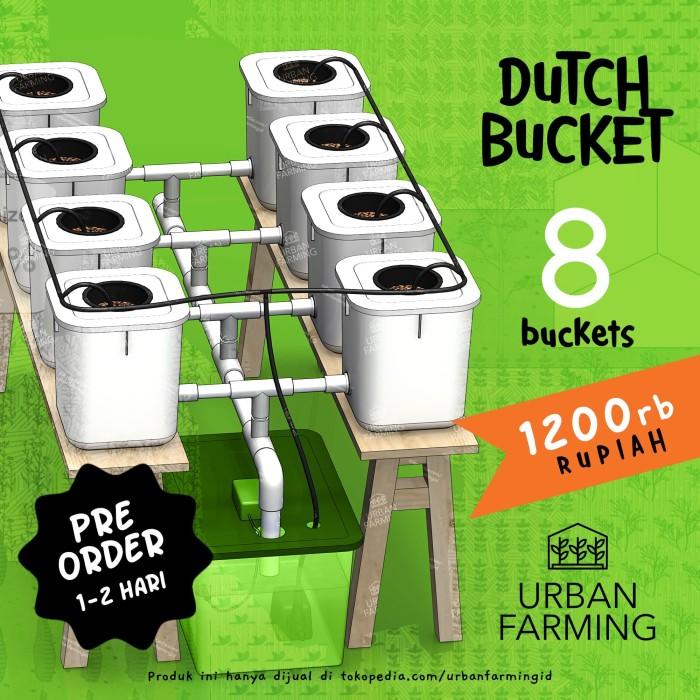 Foto Produk Dutch Bucket Hydroponic System - 8Lubang Paket/Kit/Sistem/Hidroponik dari UrbanFarming