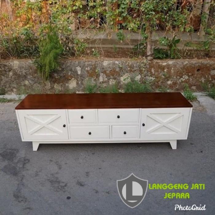 Jual Bufet Minimalis Hias Pintu X Duco White Furniture Jati Mebel Jepara Kab Jepara Langgengjatijepara Tokopedia