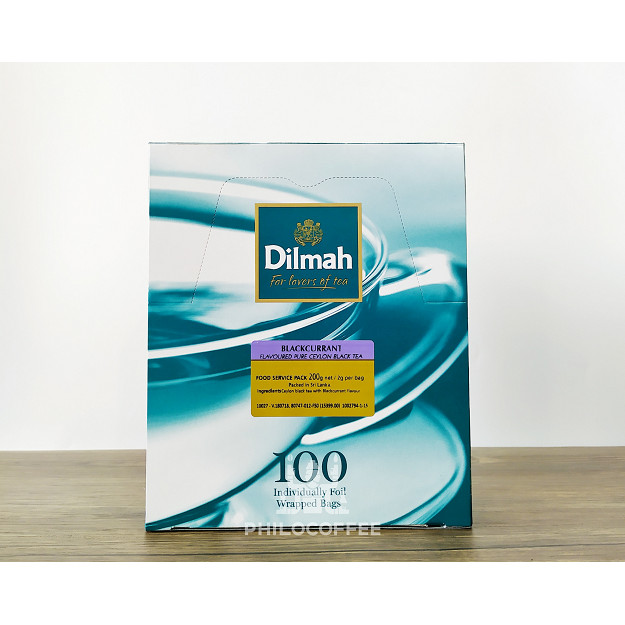 Foto Produk Teh Dilmah Blackcurrant Tea 100 saset (100 Foil Enveloped x 2gr) dari Philocoffee