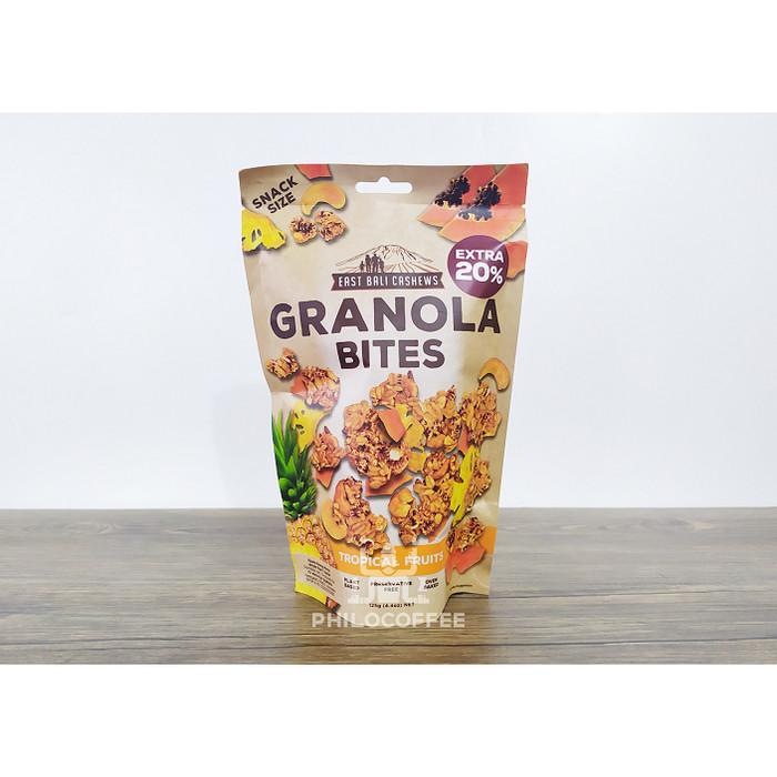 Foto Produk Granola Bites Tropical Fruits 125g (East Bali Cashew) | Cemilan Sehat dari Philocoffee