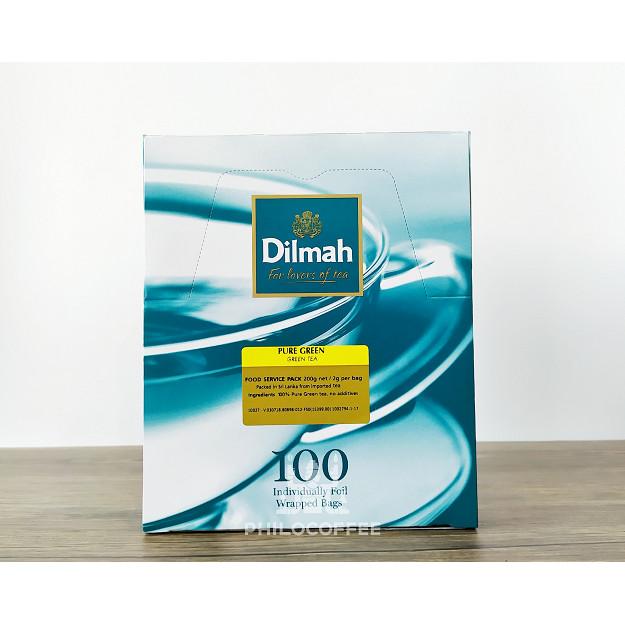 Foto Produk Teh Dilmah Pure Green Tea Natural 100 saset (100 Foil Enveloped x 2gr) dari Philocoffee