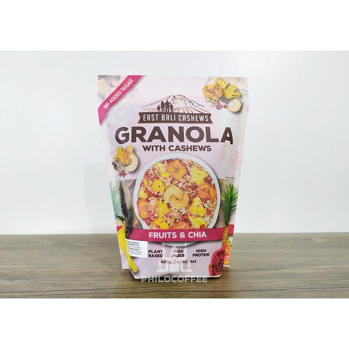 Foto Produk Granola Fruit & Chia 400gr (East Bali Cashew) | Cemilan Sehat dari Philocoffee