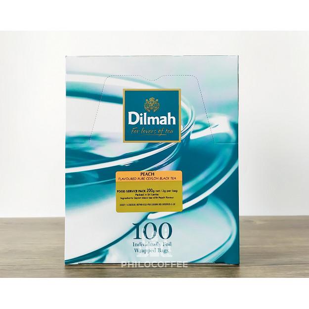 Foto Produk Teh Dilmah Peach Tea 100 saset (100 Foil Enveloped x 2gr) | Teh Celup dari Philocoffee