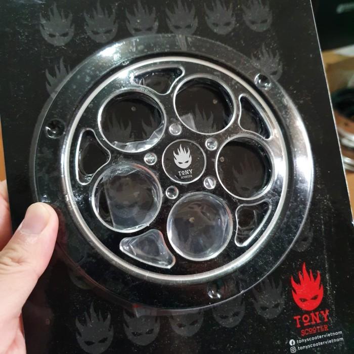 Foto Produk Tony Scooter Fan Cover Vintage Black Vespa 3V & Iget dari Gaya Motor Baru