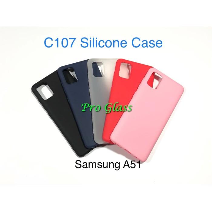 Foto Produk C107 Samsung A51 Colourful Ultrathin Silicone Case / Matte Case dari Pro Glass