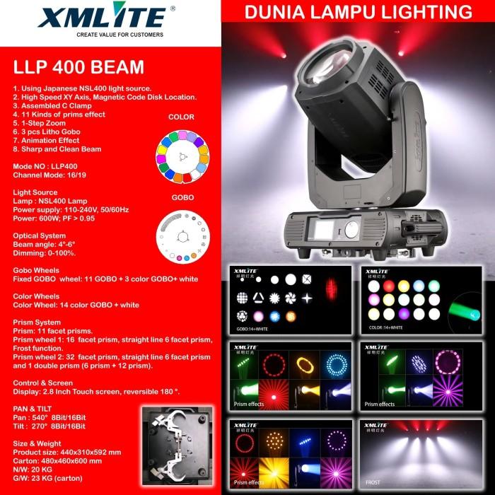 Foto Produk Moving head beam 400 lampu sorot panggung studio lighting MURAH dari DUNIA LAMPU LIGHTING