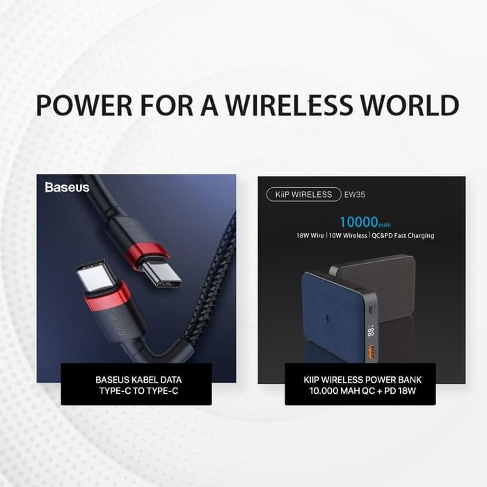 Foto Produk KIIP WIRELESS POWER BANK 10W FAST CHARGING PD&QC 3.0 18W 10000MAH - PAKET BUNDLING dari KIIP Official Store