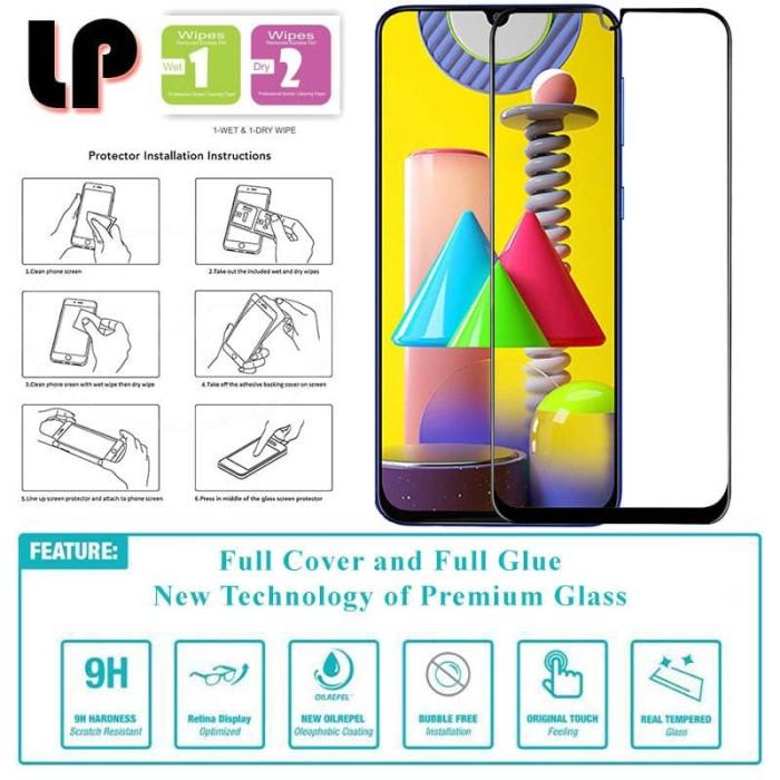 Foto Produk LP Full Glue Tempered Glass Samsung Galaxy M31 - Cover Kaca Original dari Logay Accessories