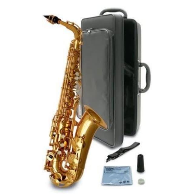 Foto Produk Yamaha YAS280 - Alto Saxophone Gold with Case Reed Strap dari FrankieDrumShop