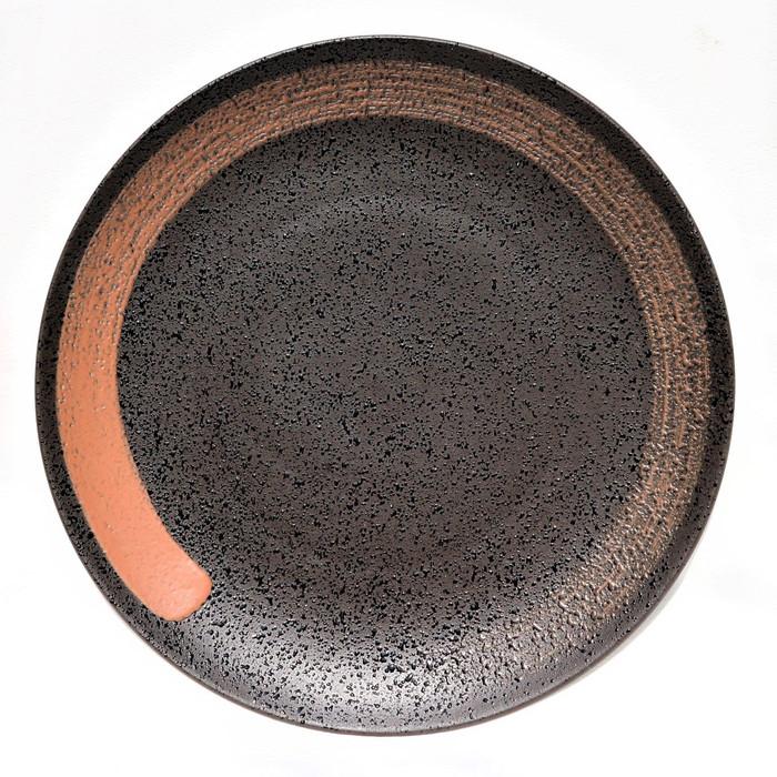 Foto Produk Artisan Ceramic | Black Spot Teracotta Side Plate | Piring Keramik dari Artisan Ceramic