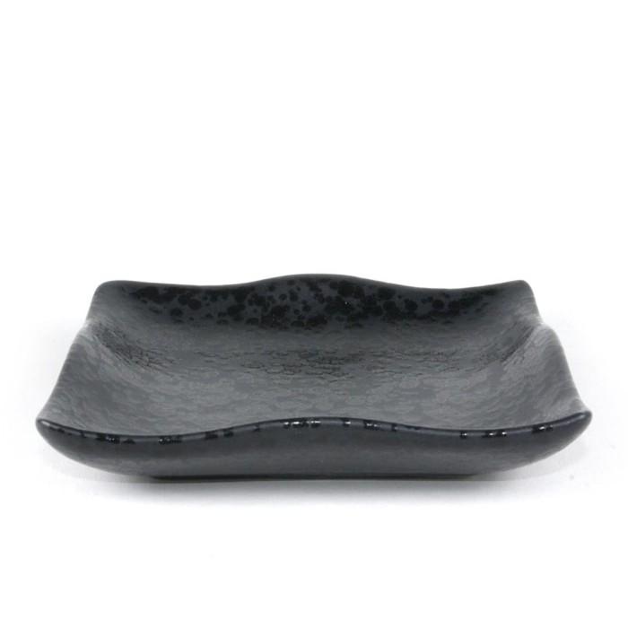 Foto Produk Artisan Ceramic | Black Spot Black Square Plate| Piring Kotak Keramik dari Artisan Ceramic
