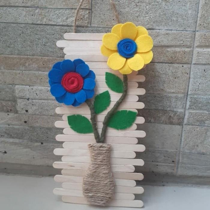 Jual Hiasan Dinding Bentuk Bunga Kain Flanel Kab Bekasi Uniqueni Tokopedia