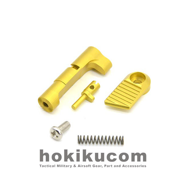 Foto Produk AIP Mag Magazine Catch Set Ruled for TM Hicapa GBB - Gold dari Hokikucom