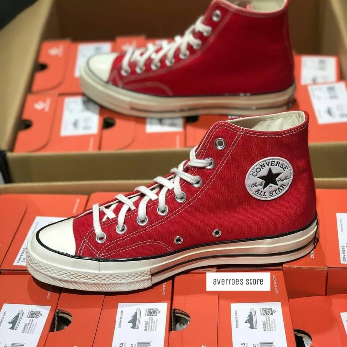 Converse CT 70s High Red White Egret