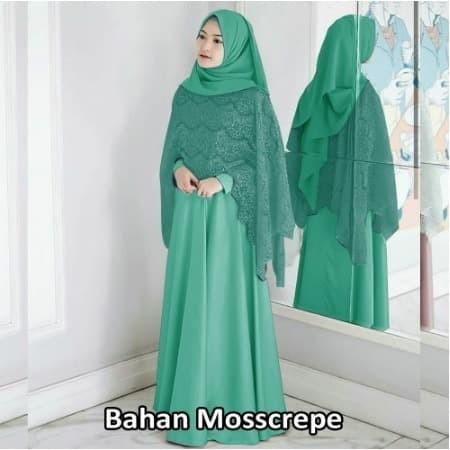 Foto Produk Gamis Fashion Muslim / Gamis Fashion Brukat / Fashion Muslim Wanita dari Super Collection