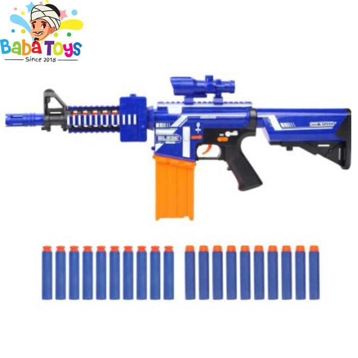 Foto Produk BLAZE STORM GUN M4 CARBINE BLASTER 7054 ( REPLIKA NERF ) ORIGINAL NEW dari Baba Mainan