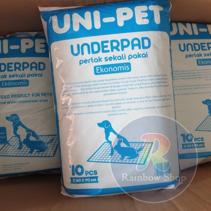 Foto Produk Underpad Perlak 60x90cm Alas Anjing Dog Pet Toilet 1 pak isi 10 lembar dari RainbowShops99