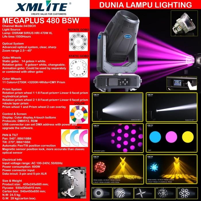 Foto Produk MOVING HEAD BEAM SPOT WASH BSW 480 XMLITE MEGAPLUS 480 dari DUNIA LAMPU LIGHTING