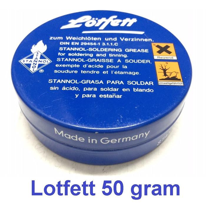 Foto Produk Lotfett Besar pasta solder grease minyak soldering timah iron 50g 50gr dari JJ MAKMUR ELECTRONIC