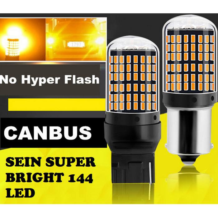 Foto Produk Lampu LED T20 7440 144 LED SUPER BRIGHT Lampu Led Sein Super Terang - Putih dari Rawawa Djojo Makmur