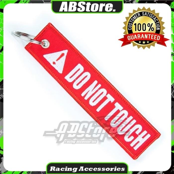 Foto Produk Gantungan Kunci Keychain DO NOT TOUCH Premium dari AB Embroidery Store