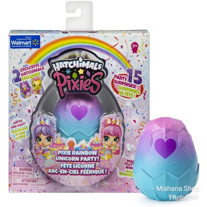 Foto Produk Boneka Hatchimals Pixies Rainbow Unicorn Party with 2.5in Dolls dari Mishana Shop