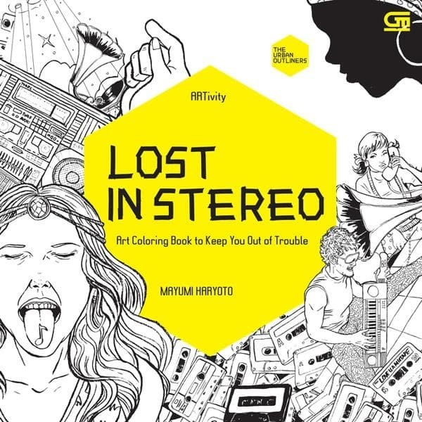 Jual Art Therapy Anti Stress Adult Coloring Book Lost In Stereo Kab Sleman Megabucks Tokopedia