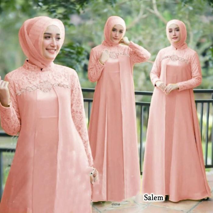Foto Produk Dress Maxi Gamis Brukat Variasi Renda ME dari Nice Pomade