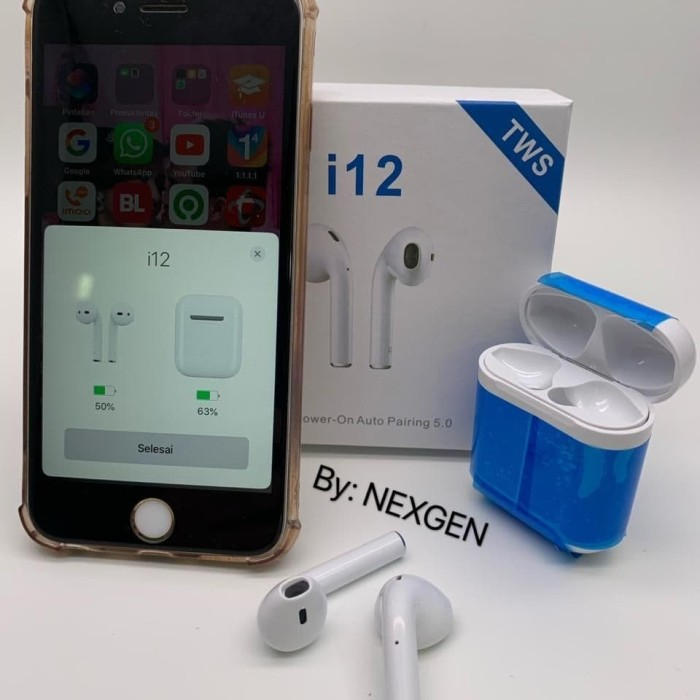 Jual Hf Headset Bluetooth Iphone Tws I12 Packing Import Kota Depok 933 Jaya Official Store Tokopedia